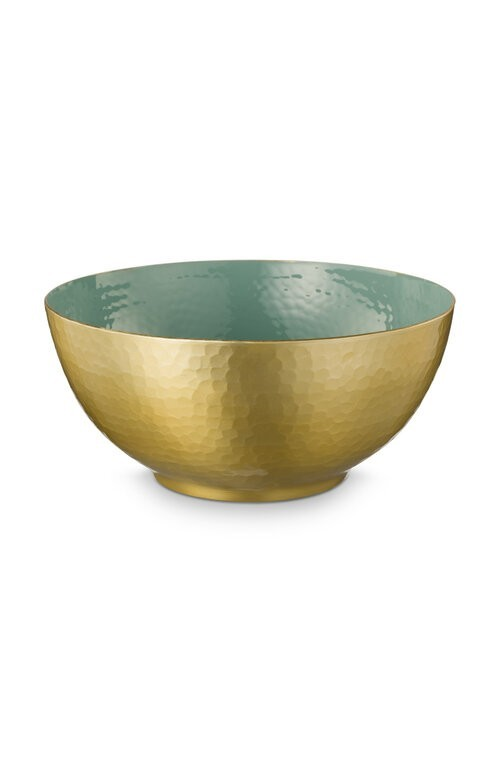 Bowl Enamelled Green 27cm