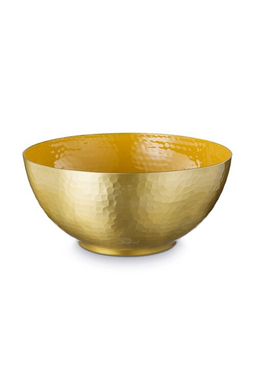 Bowl Enamelled Yellow 27cm
