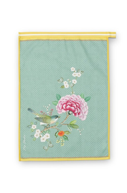 Tea Towel Blushing Birds Blue 50x70cm