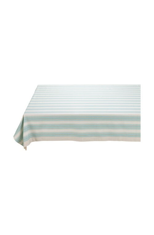 Table Cloth Stripes Blue/Khaki 150x250cm