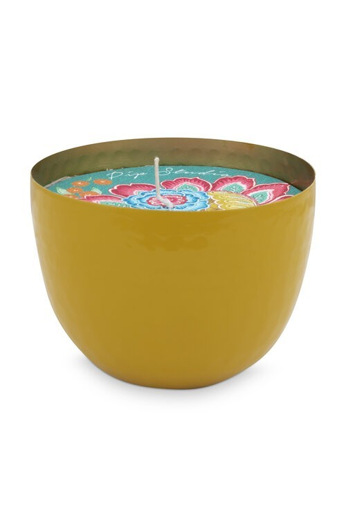Cup with Candle Yellow 11cm