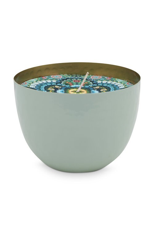 Cup with Candle Blue 11cm