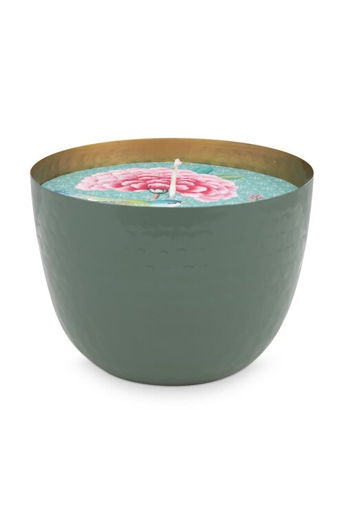 Cup with Candle Green 13cm