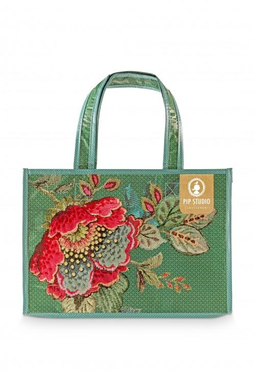 SHOPPINGl Bag Poppy Stitch 38x17x28cm
