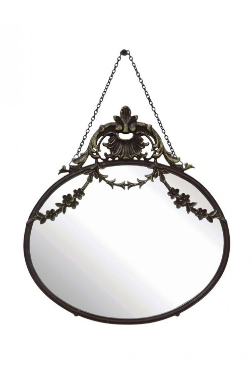 Chateau Wall Mirror, Black, Gl