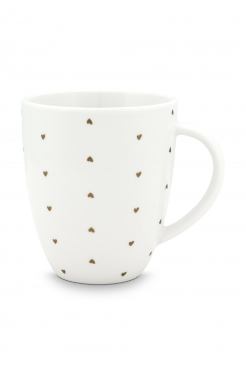 Mug with Ear White Golden Hear