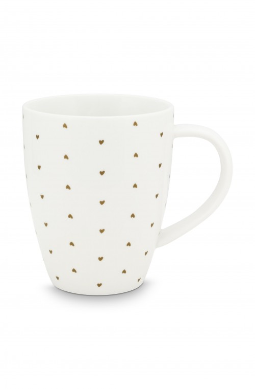 XL Mug with Ear White Golden H