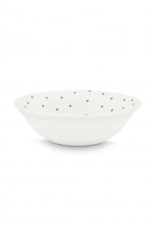 Bowl White Golden Hearts 15cm