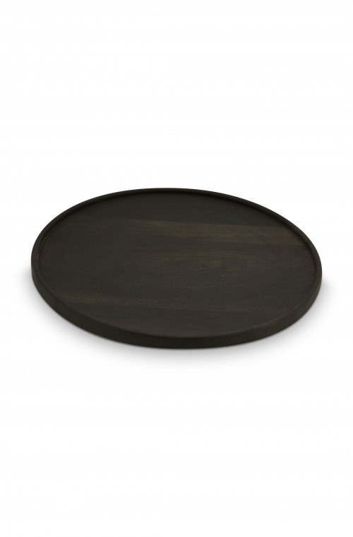 Plate Mango Wood Big Black 50x