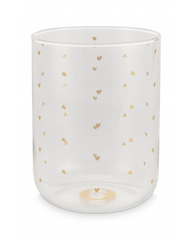 Longdrink Glass Golden Hearts