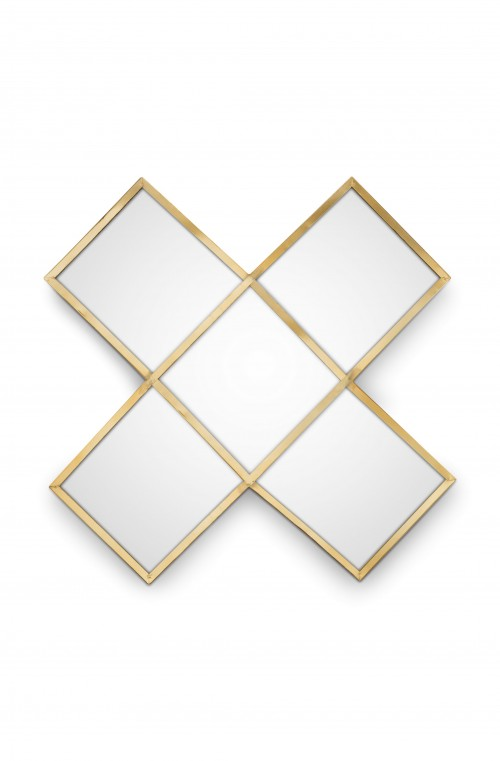 Mirror Cross Gold 45cm