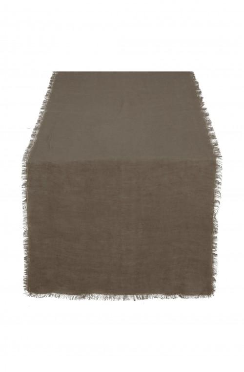 Table Runner Linen Warm Brown