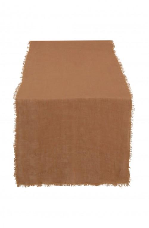 Table Runner Linen Cinnamon 50