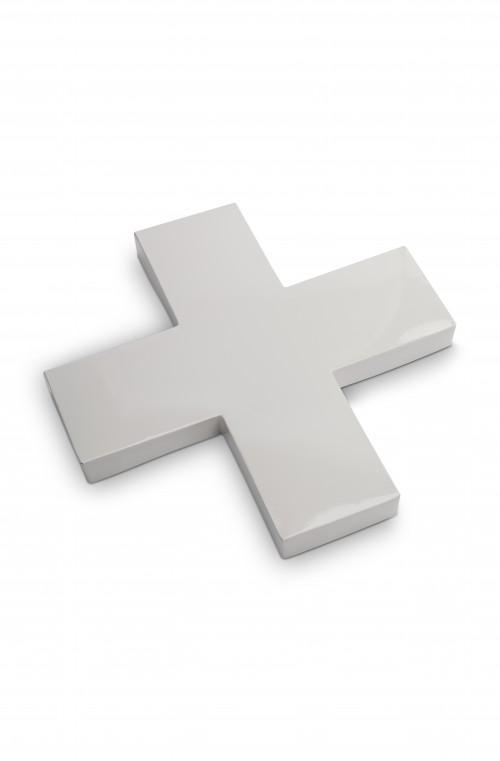 Cross Metal Grey 40cm