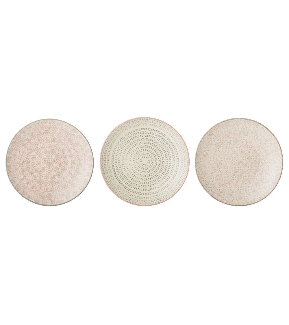 Cécile Plate, Multi-color, Sto