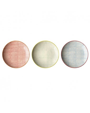 Carla Plate, Multi-color, Ston