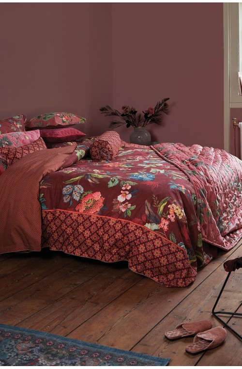 duvet coverPoppy Stitch_Red_NL_UV_60x70