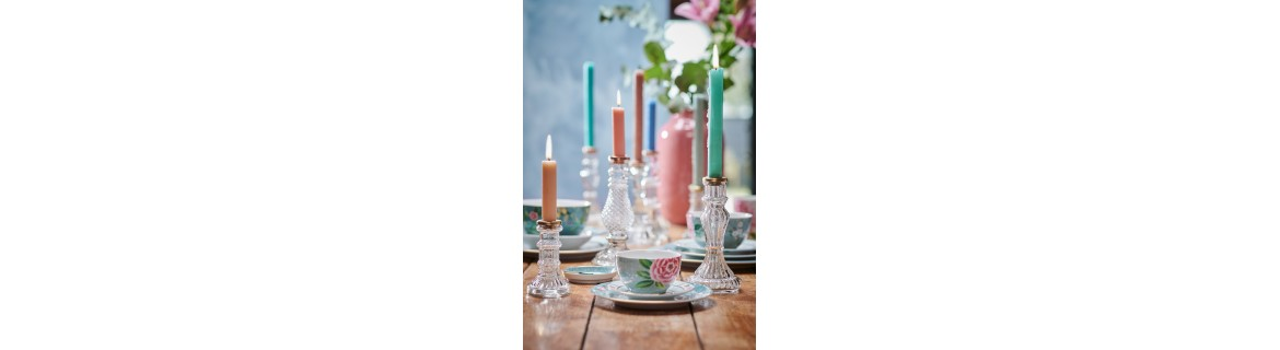 CANDLE HOLDERS GLASS